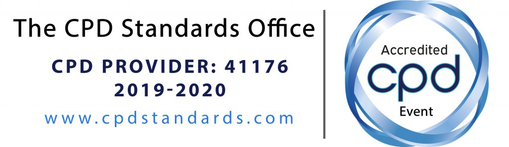 CPD Standards Office logo showing the CPD Provider number 41176 and stating that the course qualifies as 5 and a half hours of certified CPD