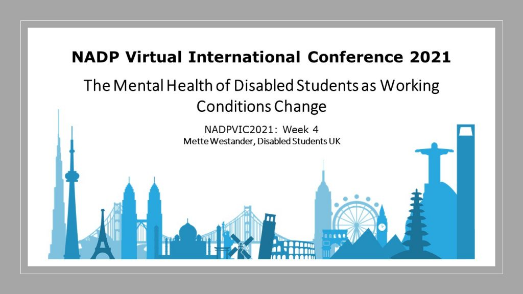 Mental health of disabled students