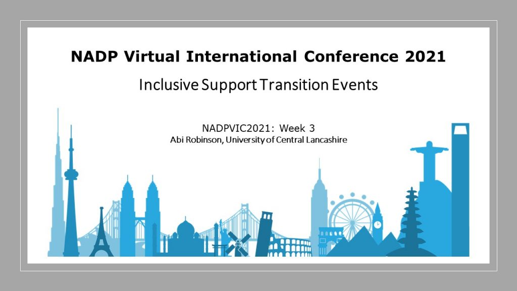 Inclusive Support Transition Events UCLAN